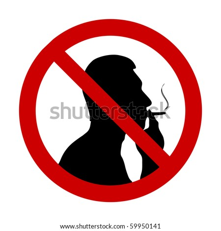 "vector illustration of ""No smoking"" sign - stock vector"