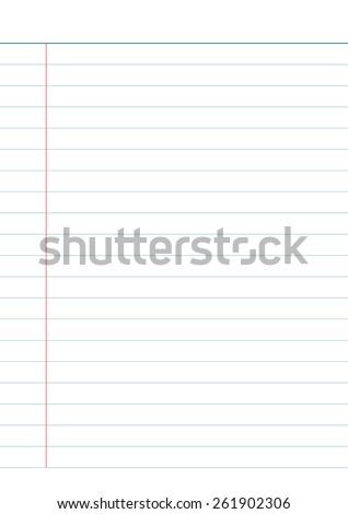 Vector illustration of Notebook paper background