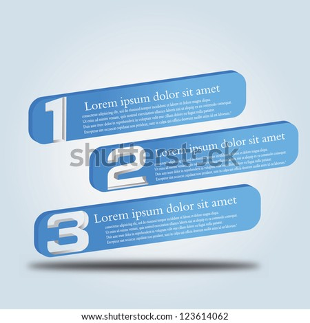 vector illustration of numbered shapes - stock vector