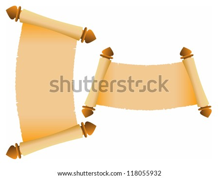 Vector illustration of  Old scroll - stock vector