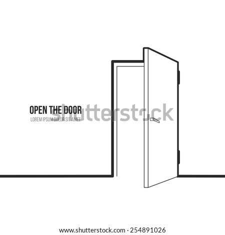 vector illustration open door symbol freedom stock vector
