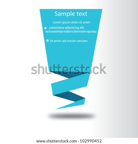 vector illustration of  origami paper - stock vector