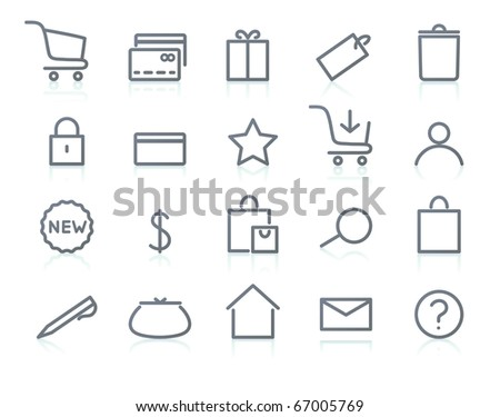 Vector illustration of original e-commerce Icon Set, good for web, software etc. - stock vector