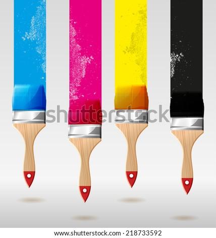 Vector illustration of   Paint brush  - stock vector