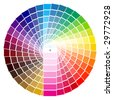 vector illustration of PANTONE - stock vector