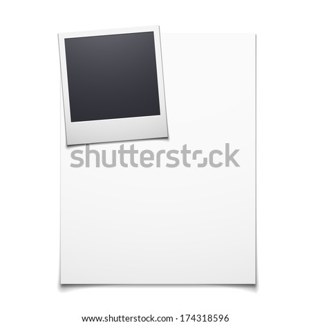 Vector illustration of paper blank and polaroid photo frame background - stock vector