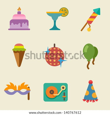 Vector illustration of party color on light background