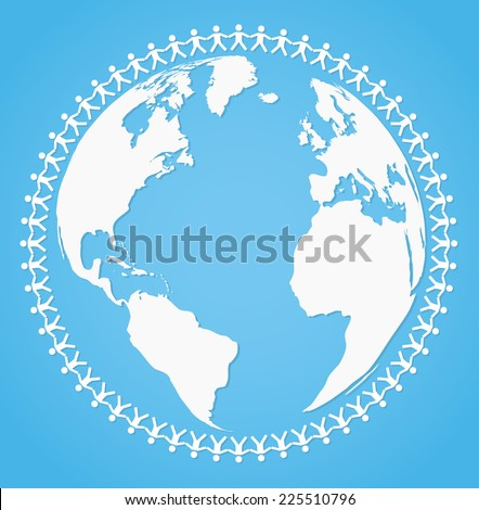 Vector illustration of peace around the world - stock vector
