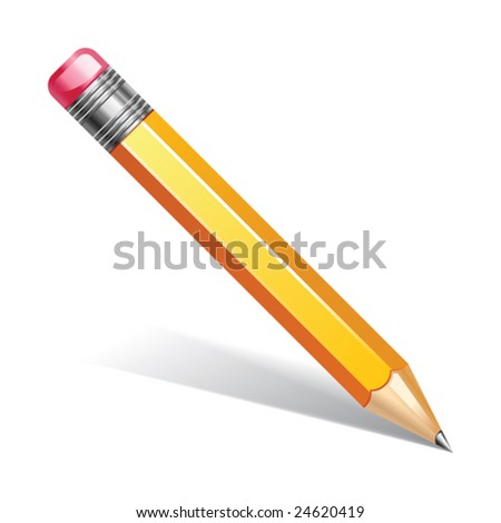 vector illustration of pencil