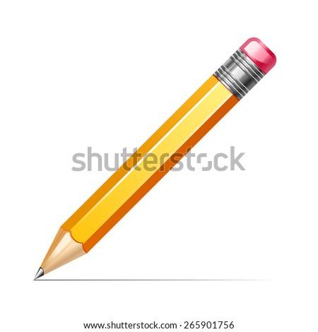 vector illustration of pencil - stock vector