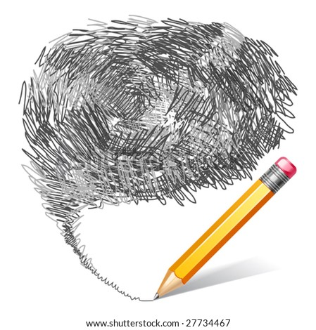 vector illustration of pencil background - stock vector