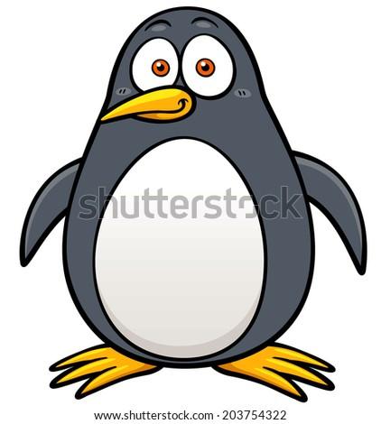Vector illustration of Penguin cartoon - stock vector