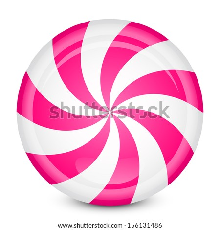 Vector illustration of peppermint candy - stock vector