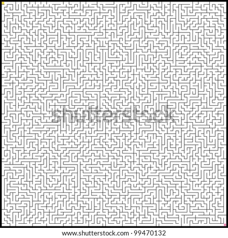 Vector illustration of perfect maze. EPS 8 vector file included