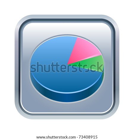 Vector illustration of pie chart icon - stock vector
