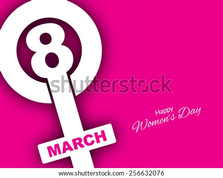 Vector illustration of Pink color creative background design for women's day.  - stock vector