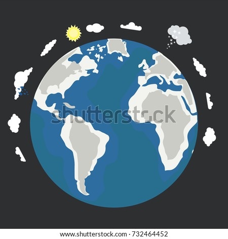 Vector illustration planet earth cartoon planet vector de vector illustration of planet earth cartoon planet earth in a flat style isolated on white gumiabroncs Image collections