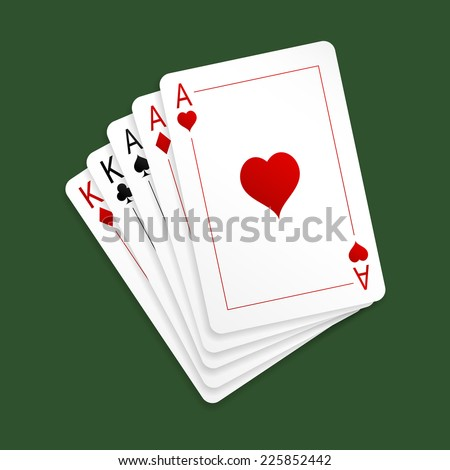 aces full of kings poker card pictures