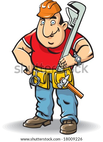 vector illustration of plumber