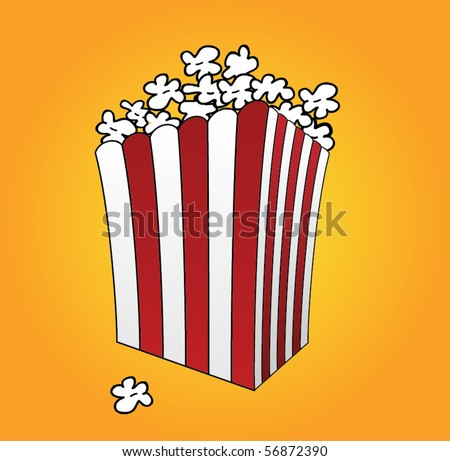 Vector illustration of popcorn box