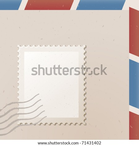 vector illustration of postage stamp - stock vector
