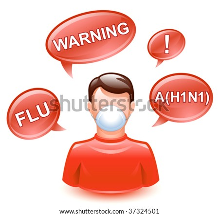 vector illustration of prevention of spread of the infection - stock vector