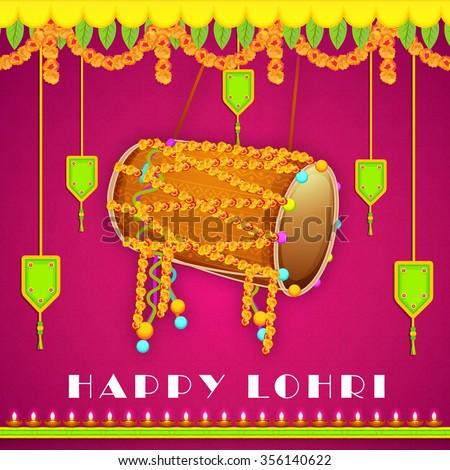 Punjabi culture stock images royalty free images vectors vector illustration of punjabi festival happy lohri celebration with colorful background malvernweather Choice Image