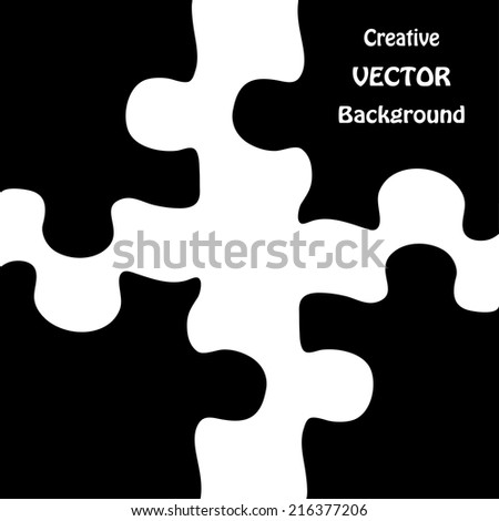 Vector illustration of puzzles - stock vector