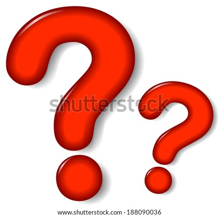 Vector illustration of question mark sign on white background - stock vector