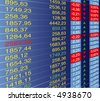vector illustration of quotes at the stock exchange - stock photo
