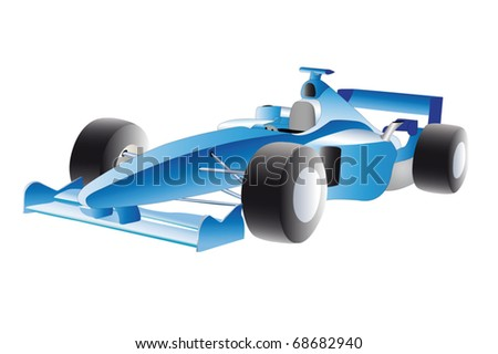 Vector illustration of racer under the white background - stock vector