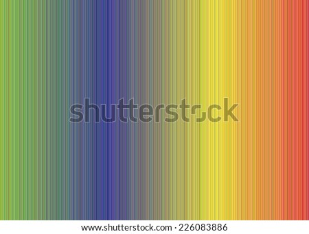 Vector illustration of Rainbow Colours - stock vector