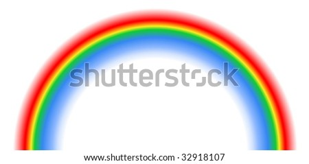 Vector illustration of rainbow isolated on white background. Clipping mask is used.