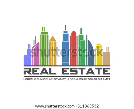 Vector illustration of real estate icon - stock vector