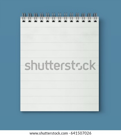Vector illustration of realistic coil bound notebook