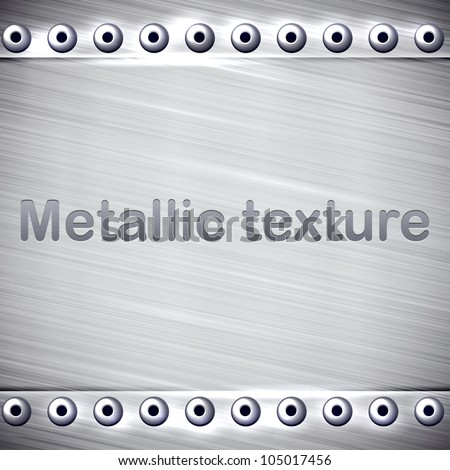Vector illustration of realistic metallic texture. - stock vector