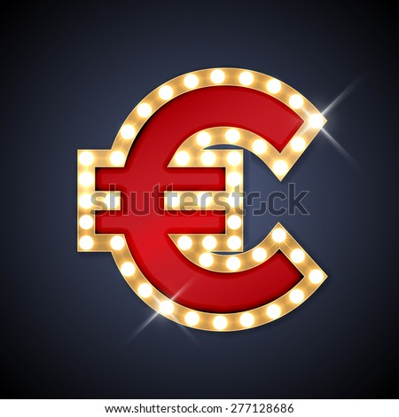Vector illustration of realistic retro signboard letter P. Part of alphabet including special European letters. - stock vector