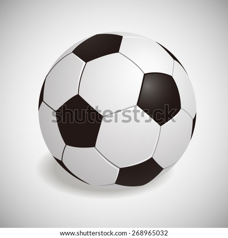 Vector Illustration of Realistic White Soccer ball - stock vector
