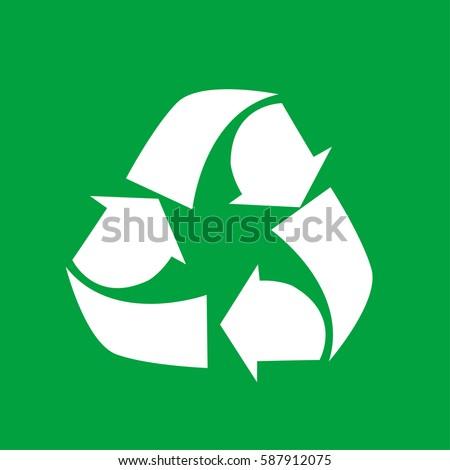 Vector Illustration Recycling Symbol Stock Vector Hd Royalty Free
