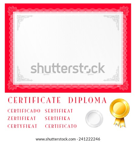 Vector illustration of red detailed border - stock vector