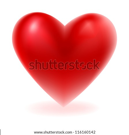Vector illustration of Red heart shape
