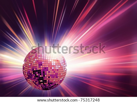 Vector illustration of red shiny abstract party design - stock vector