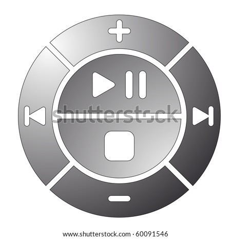vector illustration of remote control buttons - stock vector