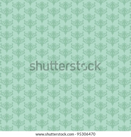 vector illustration of repeating retro mint-green background. - stock vector