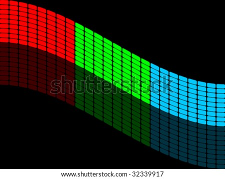 vector illustration of RGB colors