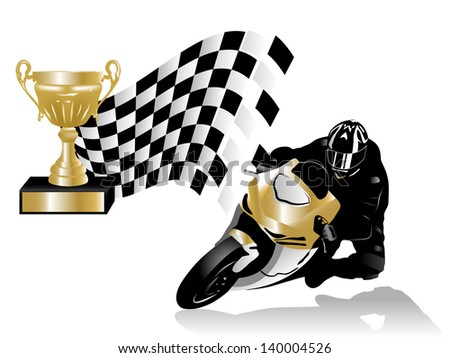 Vector illustration of road racing winner