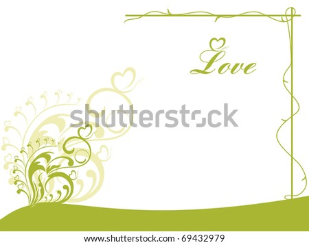 vector illustration of romantic background - stock vector