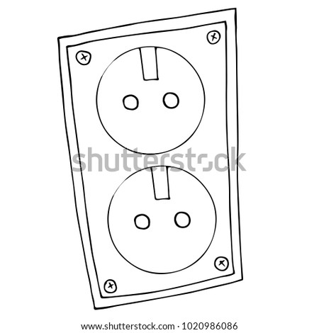 power outlet red wall stock images  royalty