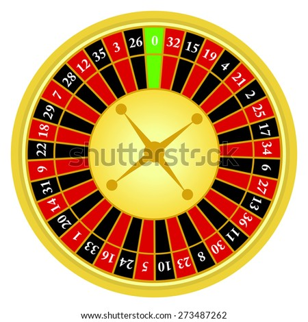 Vector illustration of roulette wheel