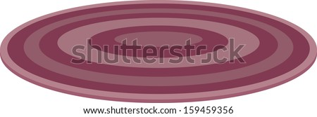 Vector illustration of round rug - stock vector